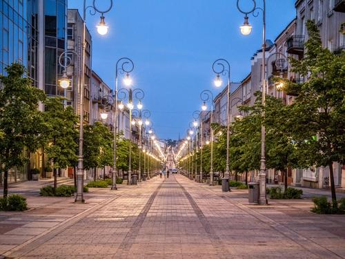 Kielce. Sienkiewicza Street.